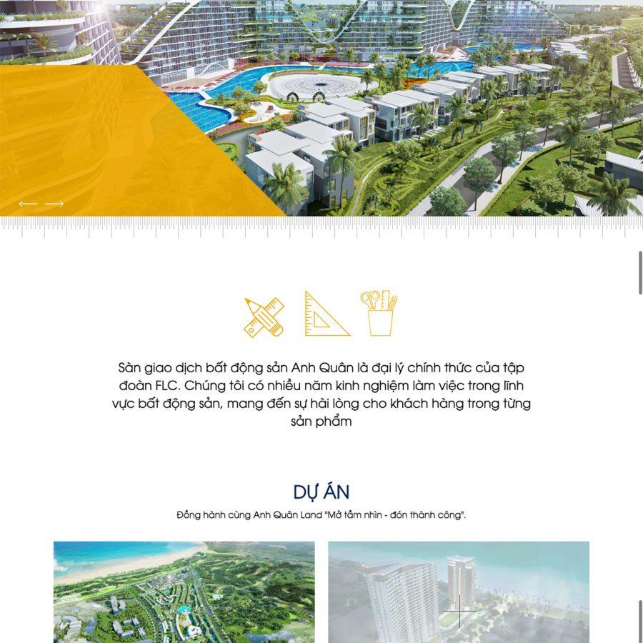 Thiết kế web bất động sản Quy Nhơn