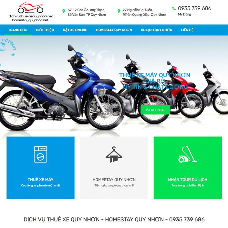 Thiết kế web cho thuê xe máy Quy Nhơn