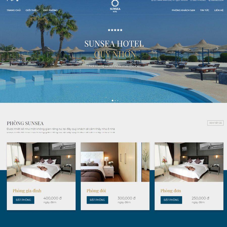 Thiết kế web khách sạn tại Quy Nhơn