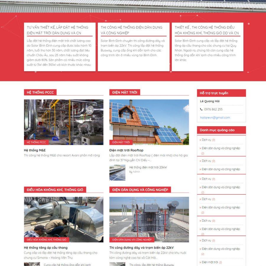Thiết kế website cơ điện CTH